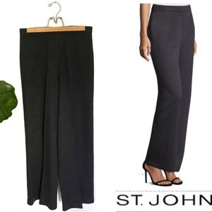 St. John Collection Charcoal Wool Santana Pants!